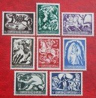 Legende Légendes Belges Tuberculose Zegels Complete Set 1944 OBP 653-660 (Mi 673-680) POSTFRIS/ MNH ** BELGIE BELGIUM - Belgium