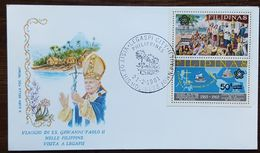 "Philippines - Cachet ""Visite Du Pape Jean Paul II"" - Legaspi City - 21.2.1981 - Filipinas"