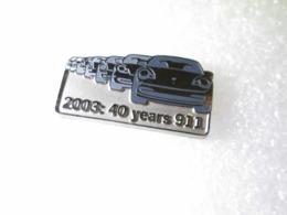 PIN'S   PORSCHE  911    2003  40 YEARS 911    PORSCHE CLUB MEMBER  59/2000 - Porsche