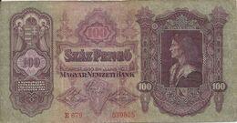 HONGRIE 100 PENGO 1930 VF P 98 - Ungarn