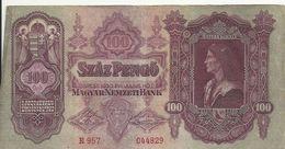HONGRIE 100 PENGO 1930 VF P 98 - Hungary