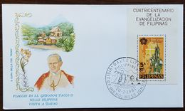 "Philippines - Cachet ""Visite Du Pape Jean Paul II"" - Davao City - 20.2.1981 - Filipinas"