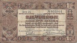 PAYS-BAS 1 GULDEN 1938 VG+ P 61 - [2] 1815-… : Regno Dei Paesi Bassi