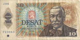 TCHECOSLOVAQUIE 10 KORUN 1986 VG+ P 94 - Czechoslovakia