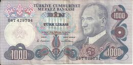 TURQUIE 1000 LIRA L.1970 VF P 191 - Turquie