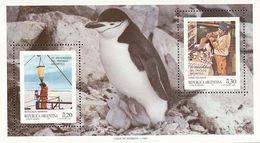 MDB-BK2-398-2 MINT ¤ ARGENTINA 1987 BLOCK  ¤ OISEAUX - BIRDS - PAJAROS - VOGELS - VÖGEL - - Pingouins & Manchots