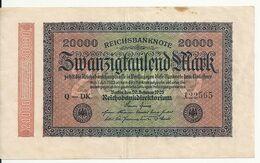ALLEMAGNE 20000 MARK 1923 VF+ P 85 - 20000 Mark