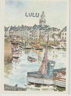 DEPT 44 : édit. E P I : Le Croisic Le Port Aquarelle De Robert Leboucher ( Galeries D'arts Au Croisic ) - Le Croisic