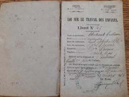 Mines, Livret D'un Enfant Travaillant à 14 Ans Dans Les Mines De Ste Florine En Haute Loire . Mineur - Old Paper