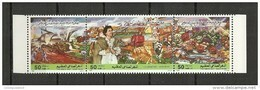 1991-Libya- The Great Man River Builder – Strip Of 3 Stamps MNH** - Libyen