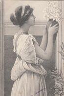 CPA  FEMME Style Antique  Signée RYLAND - Künstlerkarten