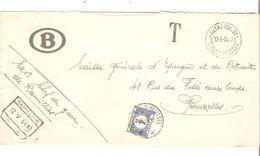 REF1506/ L.SNCB Franchise (non Acceptée) Chef Gare Ramillies C.C.F. 12/5/54 10H & Autre-Eglise 12/5/54 17H > BXL Taxée 4 - Portomarken