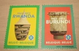 4240**+ 4241** Burundese Trom + Rwandees Mandje  Postfris - Tambour Burundais MNH ( 2 Timbres World) 2 X Wereld - Bélgica