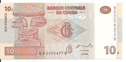 CONGO 10 FRANCS 2003 UNC P 93 - Zonder Classificatie
