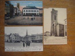Lot De 3 Cartes De ATH ( 2 Cartes Grand'Place Et 1 Carte Eglise ) - Ath