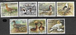 Iceland   1989-91   7 Diff Birds  Used   2016 Scott Value $5.95 - Ducks