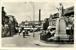 Nederland, OSS, Walplein, Heilig Hartbeeld, Cars (1957) RPPC Ansichtkaart - Oss