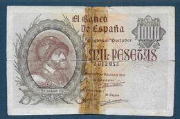 Espagne   - Billet De 1000 Pesetas De 1940 - [ 3] 1936-1975 : Regency Of Franco