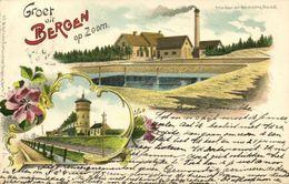 Nederland, BERGEN OP ZOOM, Watertoren En Prise D'Eau Der Waterleiding (1905) Litho Postcard - Bergen Op Zoom