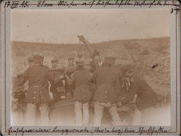 ! 2 Fotos Auf Hartpappe, Küstenbatterie Mörser, Westerplatte, Danzig Neufahrwasser, Militaria, 1895, Format 9,3x 12,2 Cm - Danzig