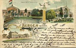 Nederland, BERGEN OP ZOOM, Gemeente Bad En Zweminrichting, Stationsplein, Thalia (1901) Litho Postcard - Bergen Op Zoom