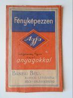 BA24.11  Pochette à Négatifs Agfa  Negative Pouch  Hungary  Bánfai Béla  PÉCS -ZALAEGERSZEG - Matériel & Accessoires