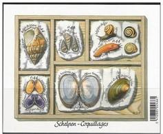 Blok 122** Schelpen Postfris 6 Mooie Zelfklevende Zegels - Coquillages Autocollantes - 3419/24** - Bloques 1962-....