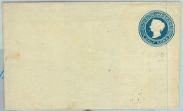 BK0288 - INDIA - POSTAL HISTORY - Stationery Cover H & G # 1 TURKEY MILL Watermark - 1882-1901 Empire