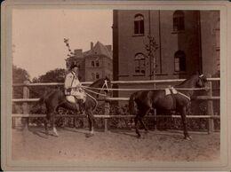 ! 1 Foto Auf Hartpappe, Photo, Pferd, Horse, Reiter, Danzig Kriegsschule, 1895, Format 9 X 12 Cm - Pferde