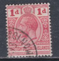 Salomon N° 20 O George V : 1 P. Rouge Oblitéré, TB - British Solomon Islands (...-1978)