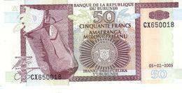 Burundi P.36 50 Francs 2005  Unc - Burundi