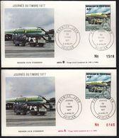 Ivory Coast 1977 / Stamp Day, Airplane / Mi 508 / FDC A+B - Costa D'Avorio (1960-...)