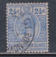 Salomon N° 26 O George V : 2 1/2 P.outremer Oblitéré, TB - British Solomon Islands (...-1978)