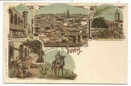 TUNISIE CARTE GRUSS SOUVENIR DE TUNIS - Túnez