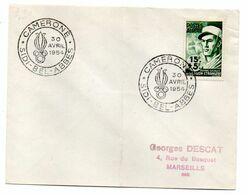 """Algérie--1954-Cachet Commémoratif  SIDI BEL ABBES  """" CAMERONE  """" Tp  Légion étrangère - Storia Postale"""