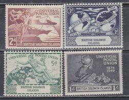 Salomon N° 75 / 78 XX 75è Anniversaire De L' U. P. U. : Les 4 Valeurs Sans Charnière, TB - British Solomon Islands (...-1978)