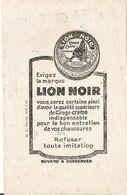 Buvard Crème Cirage Lion Noir Chaussure Paris Montrouge - Scarpe