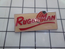1720 Pin's Pins / Beau Et Rare / THEME : SPORTS / RUGBY RUGBYMAN Par DEMONS & MERVEILLES - Rugby