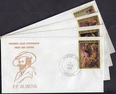 Ivory Coast 1978 / 400th Anniversary Of The Birth Of Peter Paul Rubens, Artist / Mi 537-540 / FDC - Costa D'Avorio (1960-...)