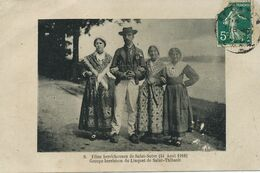 Saint Satur Fetes Berrichonnes Berry Le 14/8/1910 Danse Linquet De Saint Thibault Envoi Helene Dezat Vraignon Ste Gemme - Saint-Satur