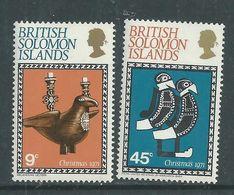 Salomon N° 207 / 08 X Noël, Les 2 Valeurs Trace De Charnière, TB - British Solomon Islands (...-1978)