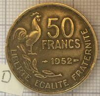 50 Francs 1952, 4 Ième République Française. TTB (D) - M. 50 Franchi
