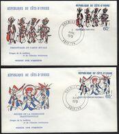 Ivory Coast 1978 /  Images Of History / Mi 542-543 / FDC - Costa D'Avorio (1960-...)