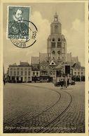 Nederland, BERGEN OP ZOOM, Groote Markt Met Stadstoren (1933) Ansichtkaart - Bergen Op Zoom