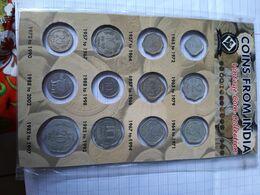 Vintage  Coin Collection  Complète   De 1965 à 1992 - India
