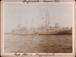 ! Altes Foto Auf Hartpappe, Photo, Avisio Pfeil, Kriegsmarine, Weichselmünde, 1895, Format 9,3 X 12,2 Cm - Guerra