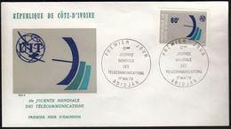 Ivory Coast 1978 / Telecommunications Day / Mi 545 / FDC - Costa D'Avorio (1960-...)