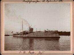 ! Altes Foto Auf Hartpappe, Photo, Avisio Jagd, Kriegsmarine, Danzig Neufahrwasser, 1895, Format 9,3 X 12,2 Cm - Krieg