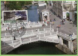 MC013 Slovenia 2013 - Bridges In Slovenia Tromostovje - MC, Maximum Card - Slovenia