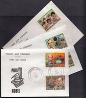 Ivory Coast 1978 / Nobel Prize Winners / Chemistry, Medicine, Literature / Mi 546-550 / FDC - Costa D'Avorio (1960-...)